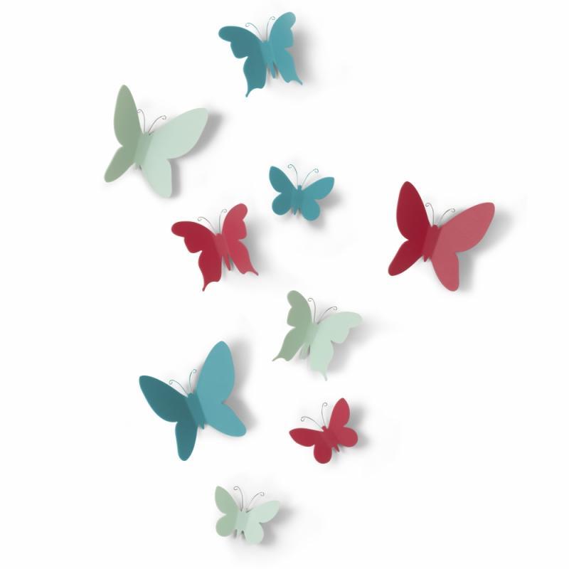 Set de 9 Papillons Adhésifs