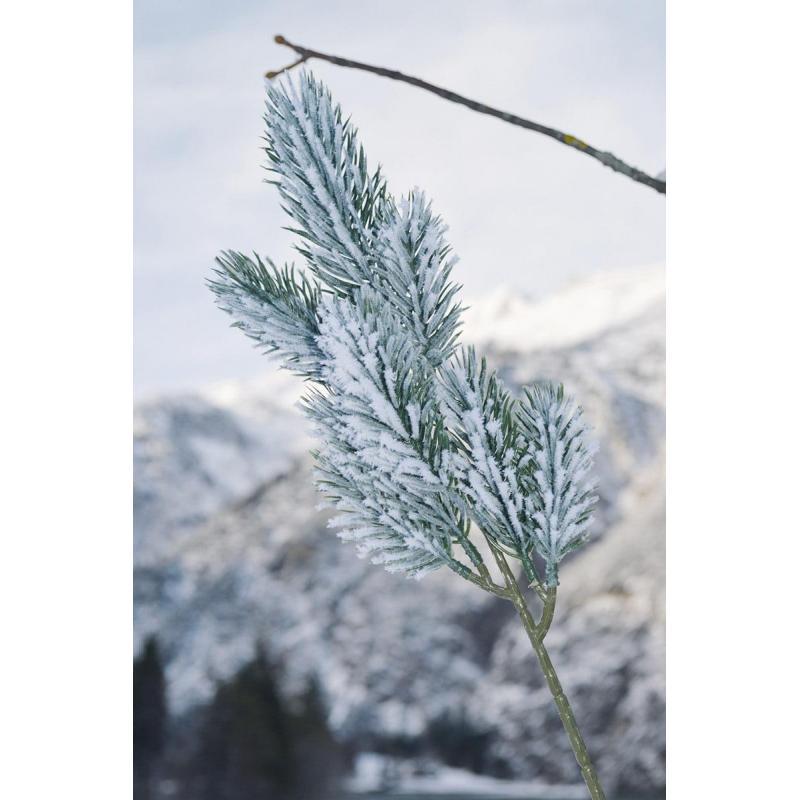 Déco branche neige Noel