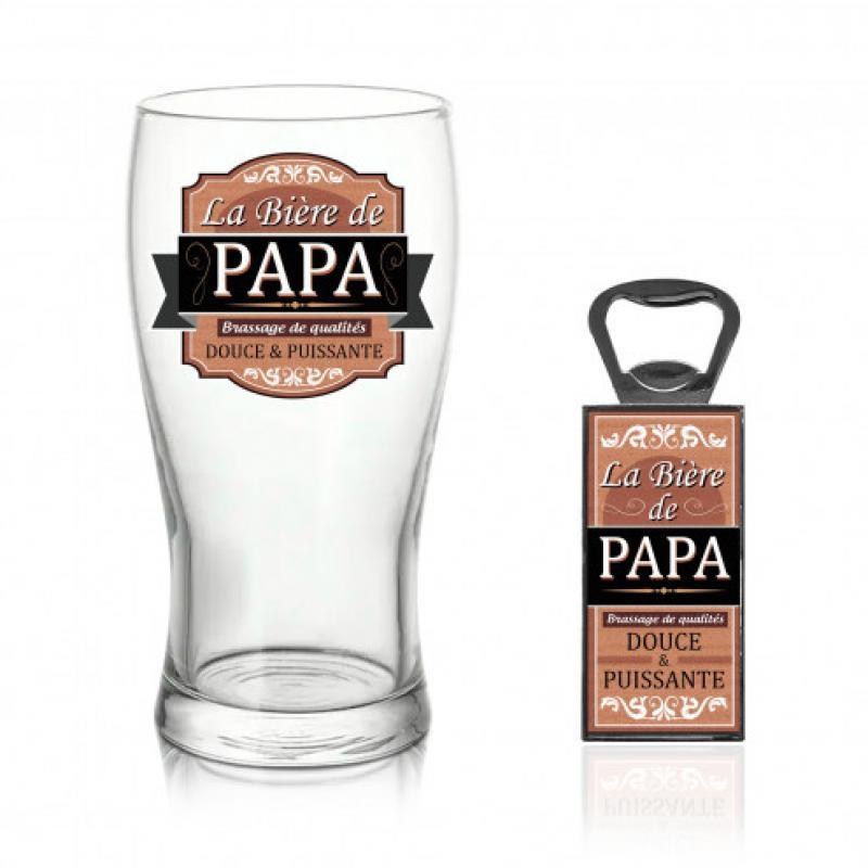 Coffret verre bière papa