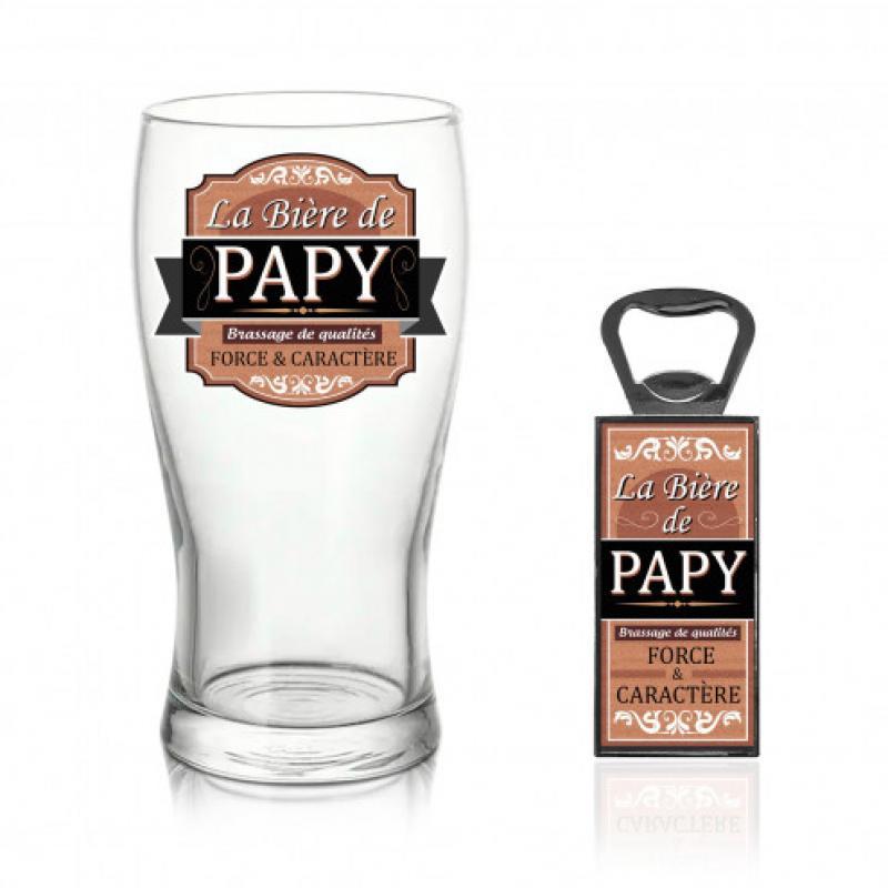 Coffret verre bière papy