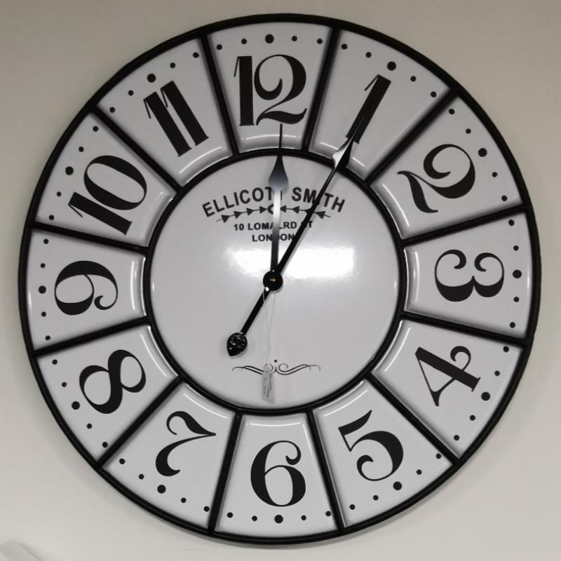 Horloge Vintage effet Email