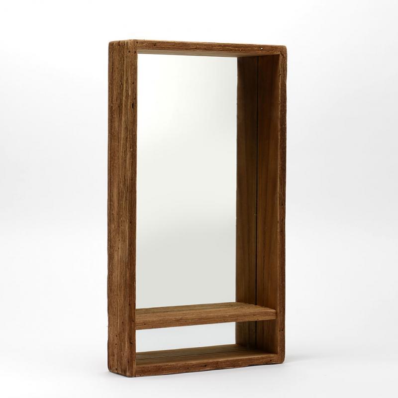 Etagère miroir BOIS RECYCLE